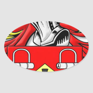 Escudo de armas de Kirkwood Pegatina Ovalada