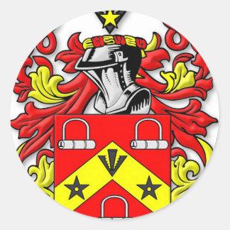 Escudo de armas de Kirkwood Pegatina Redonda