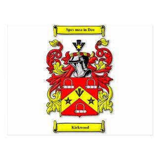 Escudo de armas de Kirkwood Tarjeta Postal