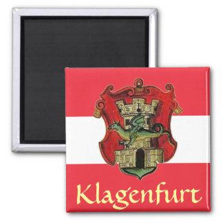 Escudo de armas de Klagenfurt Imán Cuadrado