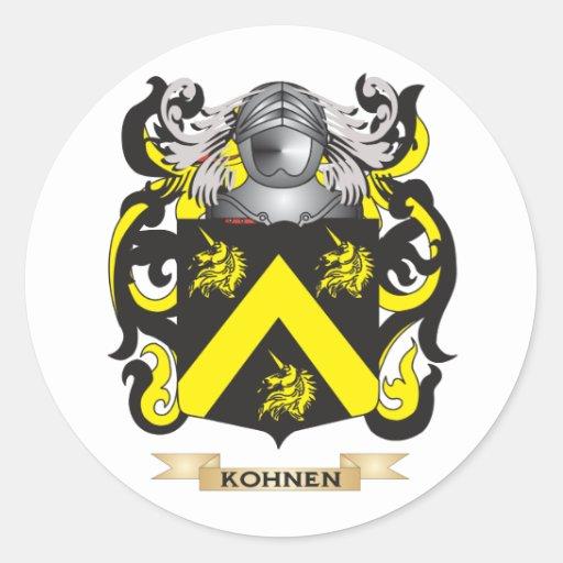 Escudo de armas de Kohnen (escudo de la familia) Pegatinas Redondas