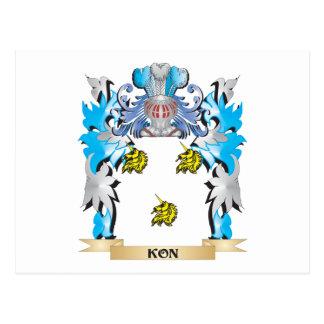 Escudo de armas de Kon - escudo de la familia Postal