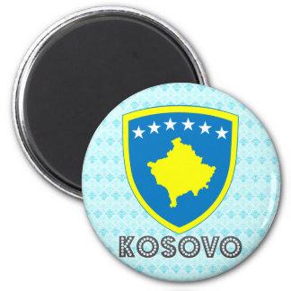 Escudo de armas de Kosovo Imán Redondo 5 Cm