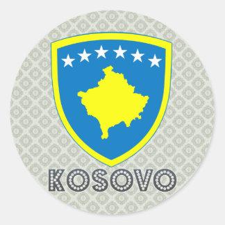 Escudo de armas de Kosovo Pegatina Redonda