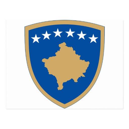 Escudo de armas de Kosovo Tarjetas Postales