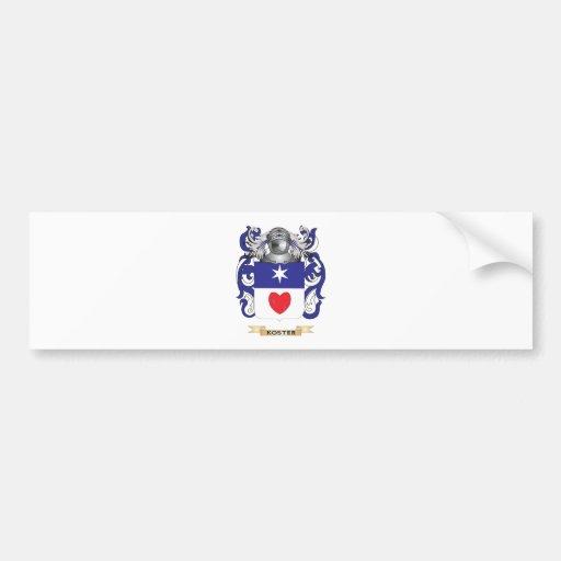 Escudo de armas de Koster (escudo de la familia) Etiqueta De Parachoque