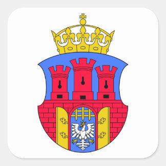 Escudo de armas de Kraków Pegatinas Cuadradas