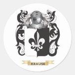 Escudo de armas de Krause (escudo de la familia) Pegatina Redonda