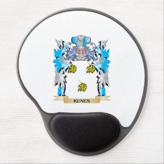 Escudo de armas de Kunes - escudo de la familia Alfombrilla De Raton Con Gel