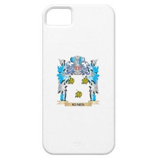 Escudo de armas de Kunes - escudo de la familia iPhone 5 Case-Mate Cárcasa