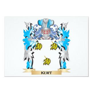 """Escudo de armas de Kurt - escudo de la familia Invitación 5"""" X 7"""""""