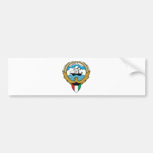Escudo de armas de Kuwait Pegatina De Parachoque