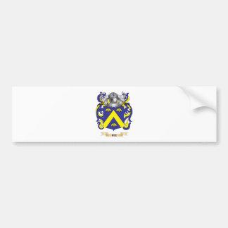 Escudo de armas de la abeja (escudo de la familia) pegatina de parachoque