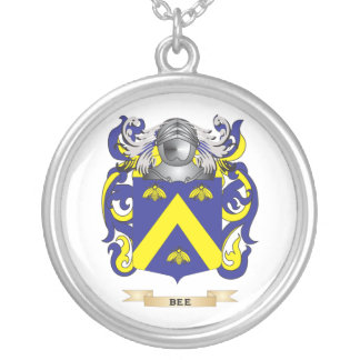 Escudo de armas de la abeja (escudo de la familia) collar personalizado