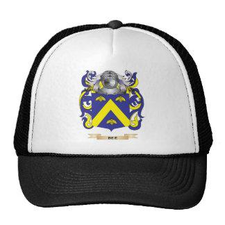 Escudo de armas de la abeja (escudo de la familia) gorro de camionero