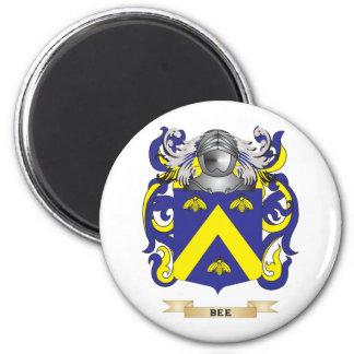 Escudo de armas de la abeja (escudo de la familia) iman de frigorífico