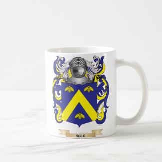Escudo de armas de la abeja (escudo de la familia) tazas