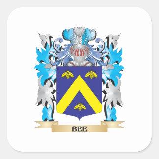 Escudo de armas de la abeja colcomanias cuadradases