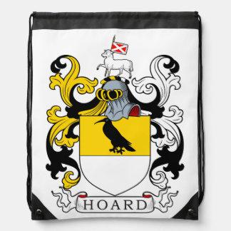 Escudo de armas de la acumulación mochila