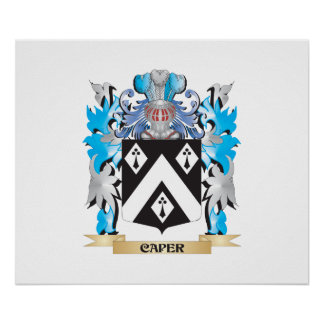 Escudo de armas de la alcaparra - escudo de la fam poster