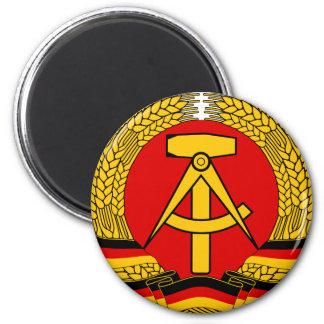 Escudo de armas de la Alemania Oriental Imán Redondo 5 Cm