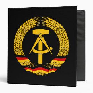 """Escudo de armas de la Alemania Oriental/sello del Carpeta 1 1/2"""""""