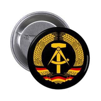 Escudo de armas de la Alemania Oriental/sello del  Pin Redondo De 2 Pulgadas