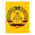 Escudo de armas de la Alemania Oriental/sello del  Tarjetas Postales