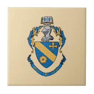 Escudo de armas de la alfa de la phi de la theta azulejo cuadrado pequeño