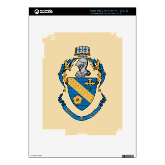 Escudo de armas de la alfa de la phi de la theta pegatina skin para iPad 3