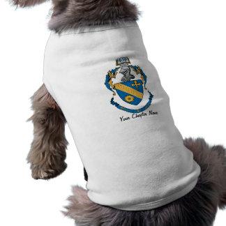 Escudo de armas de la alfa de la phi de la theta playera sin mangas para perro