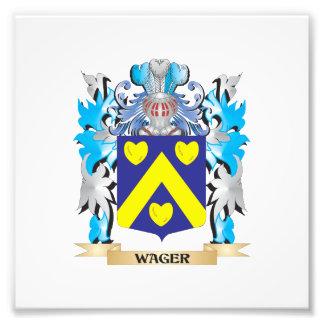 Escudo de armas de la apuesta - escudo de la fotografía