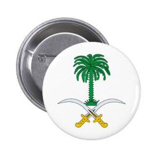 Escudo de armas de la Arabia Saudita Pin Redondo De 2 Pulgadas