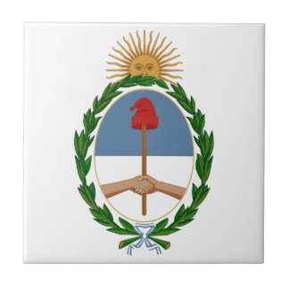 Escudo de armas de la Argentina Teja Cerámica