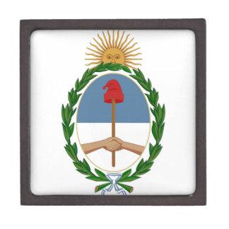 Escudo de armas de la Argentina Cajas De Recuerdo De Calidad