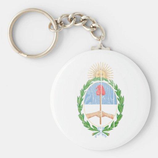 Escudo de armas de la Argentina Llavero Redondo Tipo Pin