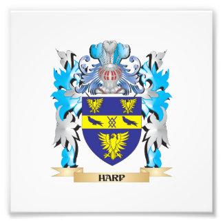 Escudo de armas de la arpa - escudo de la familia fotografías
