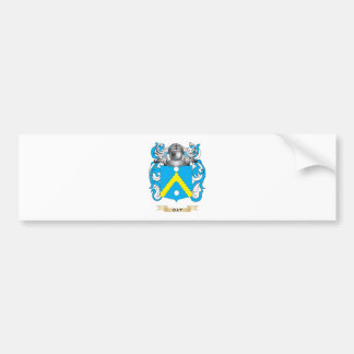 Escudo de armas de la avena (escudo de la familia) etiqueta de parachoque