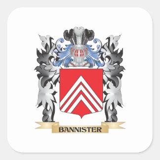 Escudo de armas de la barandilla - escudo de la pegatina cuadrada