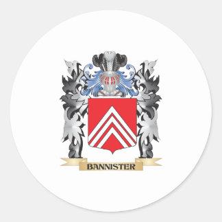 Escudo de armas de la barandilla - escudo de la pegatina redonda