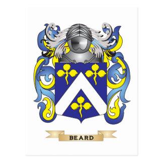 Escudo de armas de la barba (escudo de la familia) tarjetas postales