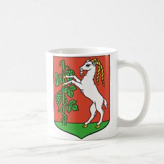 Escudo de armas de la cabra taza básica blanca