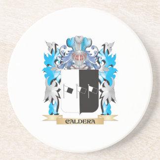 Escudo de armas de la caldera - escudo de la famil posavasos cerveza