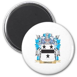 Escudo de armas de la cañada - escudo de la famili imán redondo 5 cm