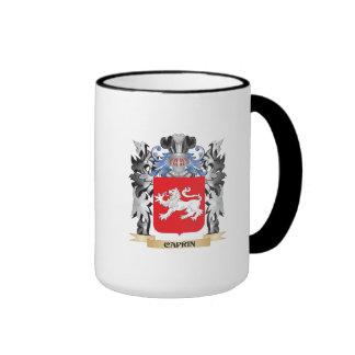 Escudo de armas de la caprina - escudo de la taza a dos colores