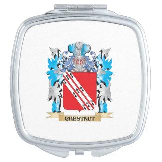 Escudo de armas de la castaña - escudo de la famil espejo de viaje