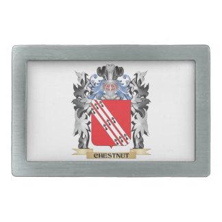 Escudo de armas de la castaña - escudo de la hebillas de cinturón rectangulares