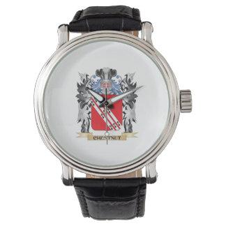 Escudo de armas de la castaña - escudo de la relojes de pulsera