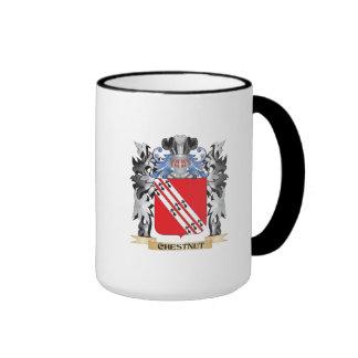 Escudo de armas de la castaña - escudo de la taza a dos colores