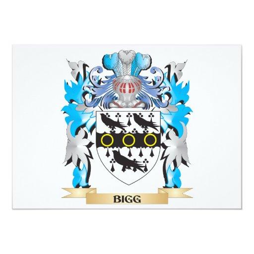Escudo de armas de la cebada bigg invitación 12,7 x 17,8 cm